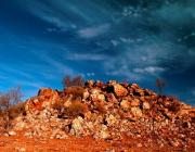 View the image: Rock and sky, Northern Territory, 2005