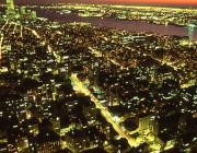 View the image: Manhattan sunset, 1992